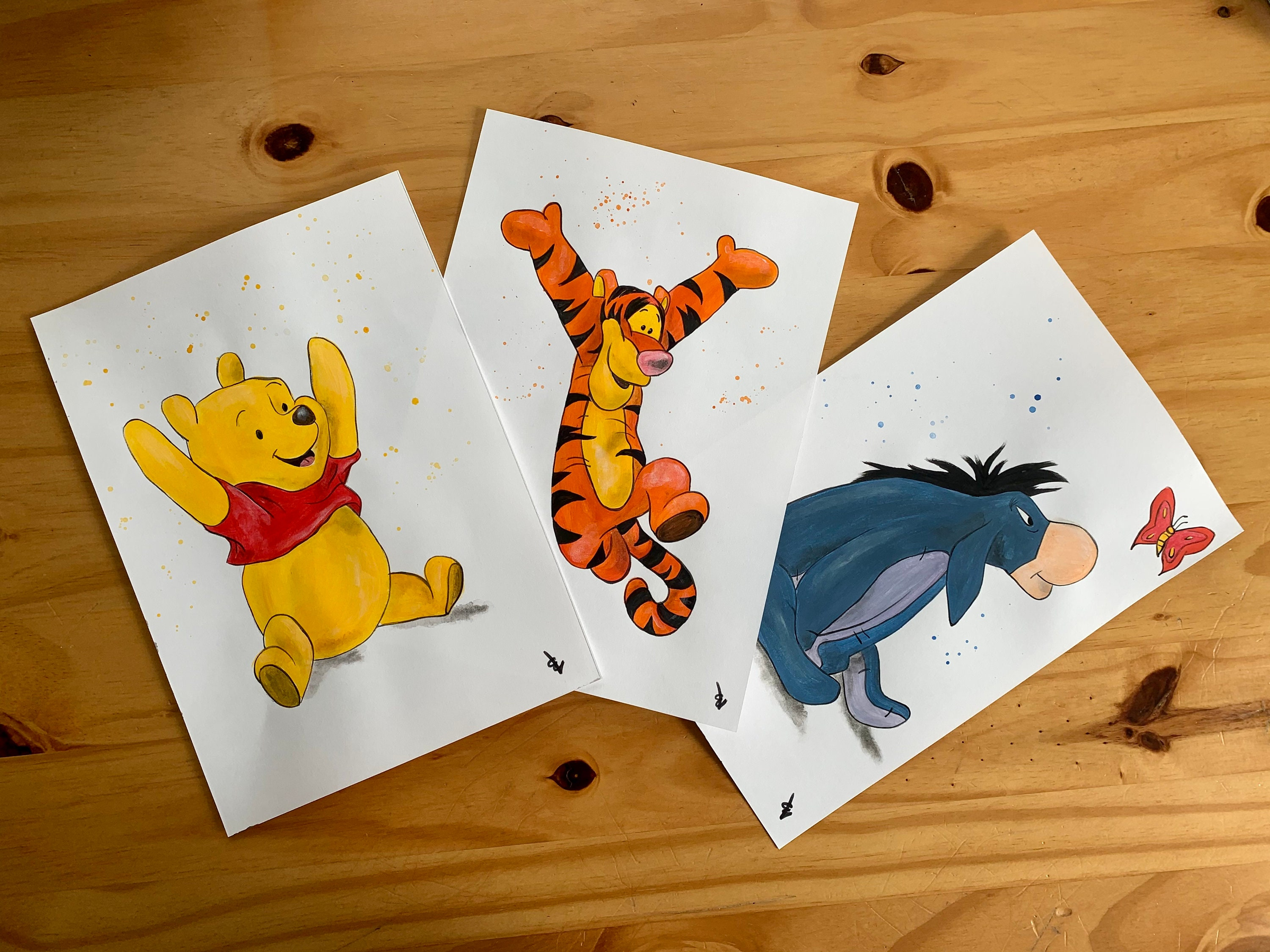 limited edition winnie the pooh prints a4 10x15 set of  etsy