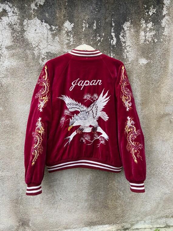 Vintage Sukajan Jacket jungle Storm Red Velvet Haw