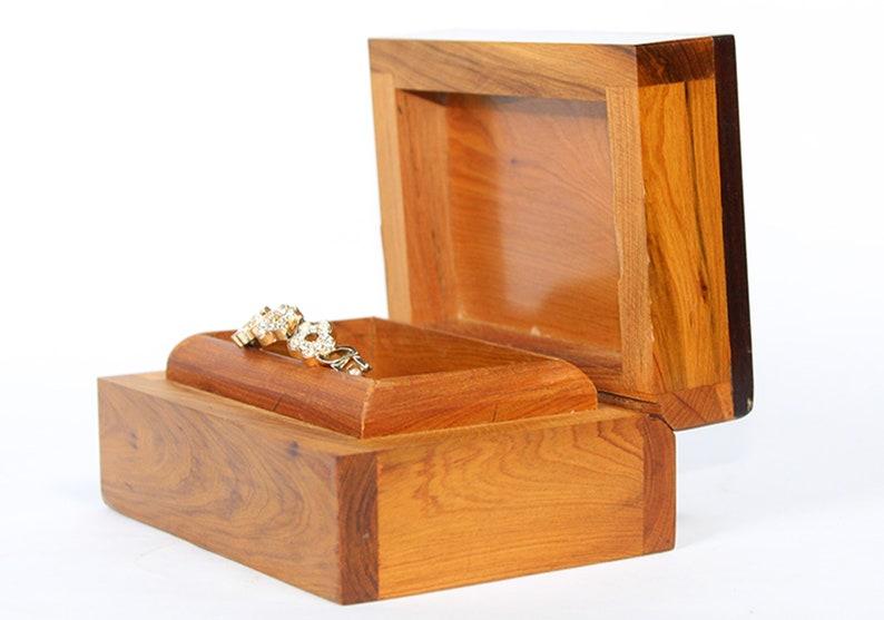 Handmade Hardwood Packing Ring Box Thuya Burl Small Box,valentine/'s Gift. Gift Box,Solid Amboyna Burl Wood Box Set of 3 Thuya box jewelry