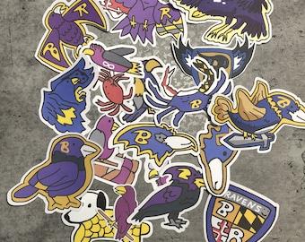 Baltimore Ravens Corndoggy Stickers '20 Season