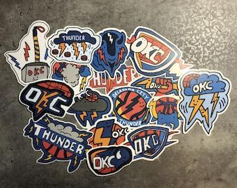 OKC Thunder Corndoggy Stickers 21 Season