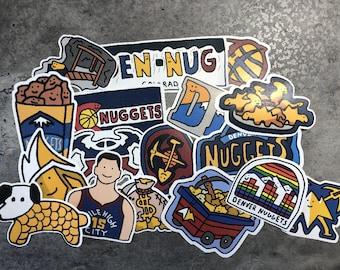 Denver Nuggets Corndoggy Stickers '21 Season
