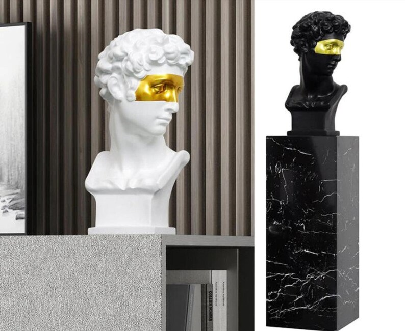 David Head Home Decoration  Head Resin Statue  Modern image 2