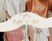 Mystery Thrifted Tee Shirt Pack- Gently Used Thrifted Shirt - Short Sleeve T - Vintage Threads - Aesthetic Apparel Outfit