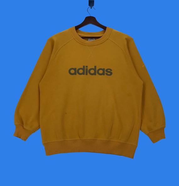 Vintage Adidas Spellout Embroidery Sweatshirt Adid