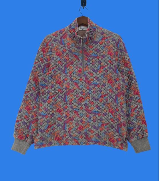 Vintage Jantzen Half Zip Knitwear MultiColour Medi