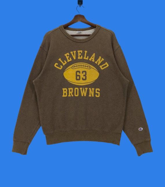 Vintage Champion Cleveland Browns NFL Sweatshirt S