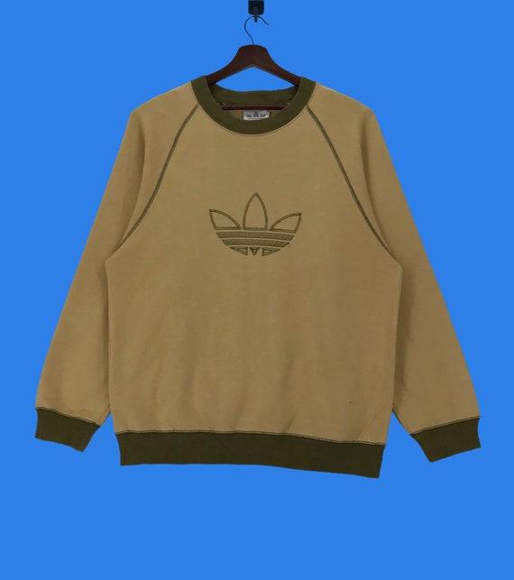 Vintage 90s Adidas Big Log Embroidery Sweatshirt A