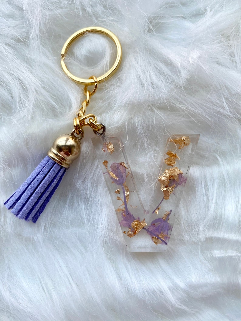 Dried Flower Resin Keychains