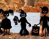 Zombie Kids Zombie Scarecrow Halloween Metal Yard Stake Decoration Decor Creepy Spooky Wall Decor Zombie boy Zombie girl
