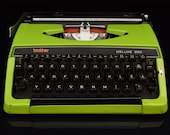 Green Brother Deluxe 220 210 200 250 Vintage Typewriter in Fully Working condition,1970 39 s Typewriters