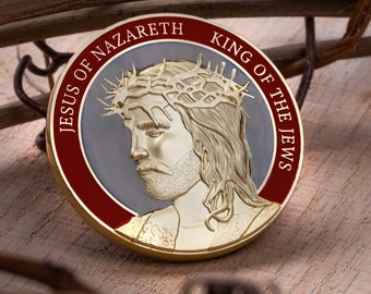 """Crucifixion Of Christ Collectors Coin (1.75"""")"""