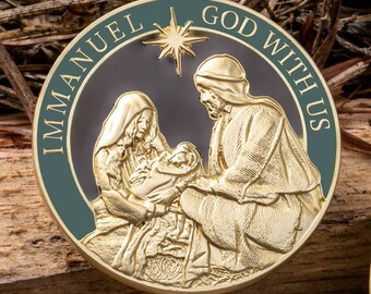 """Birth Of Christ Collectors Coin (1.75"""")"""
