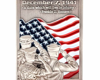 "Pearl Harbor Commemorative Coin – Limited Edition (1.75"")"