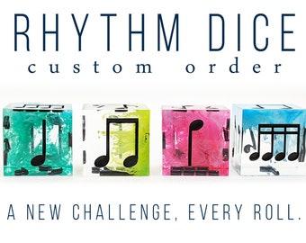 Rhythm Dice (4 Piece Set) - Custom Dice Order