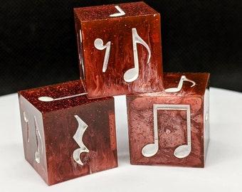 "Rhythm Dice (3 Piece Set) - ""Crimson Ascension"" B-Grade"