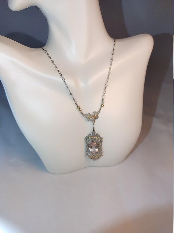 Antique y necklace