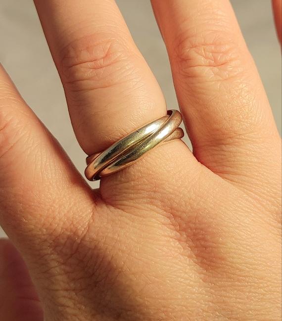 Trio ring sterling silver