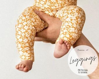 Baby and kids legging pattern, Legging sewing pattern, Cuffed pant sewing pattern, Baby pant PDF sewing pattern, Infant, baby, kid, child