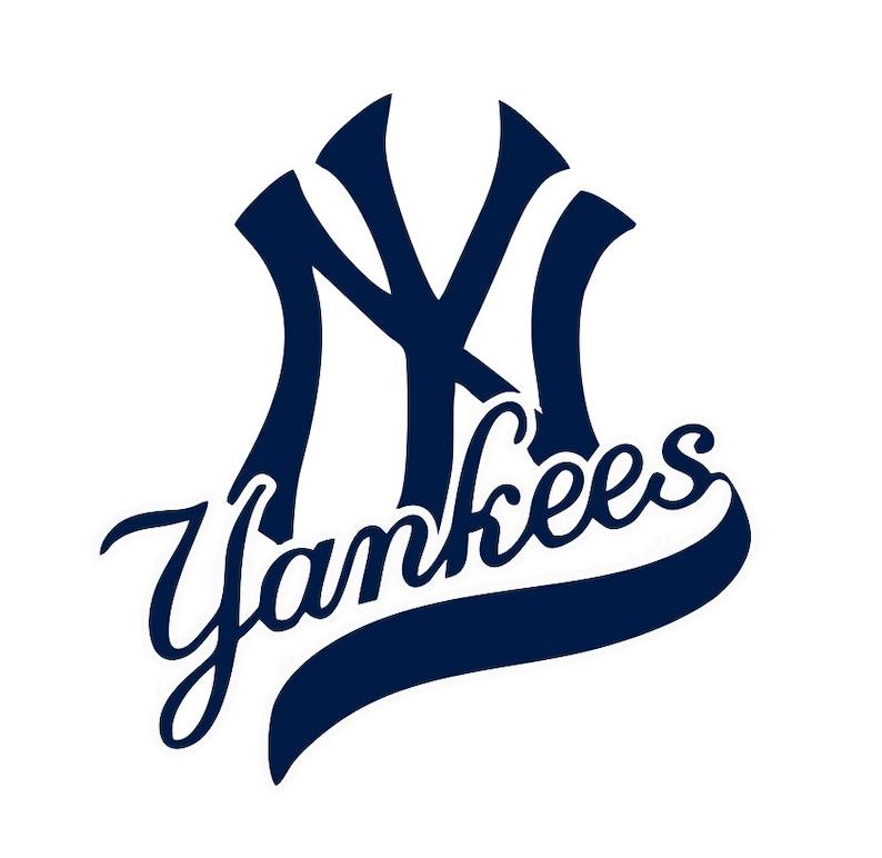 New York Yankees Baseball Logo Decal image 0