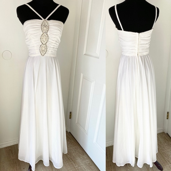 Lilli Diamond of California vintage white dress