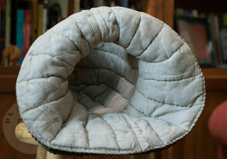Custom SCA HNB 14 Gauge Steel Medieval Churburg Bascinet Helmet w Aventail YN