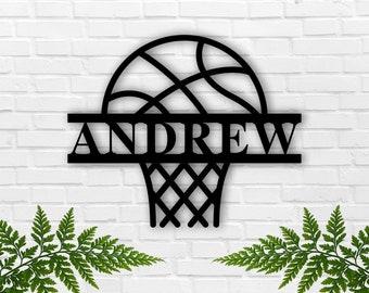 Customizable Metal Basketball Player Sign Basketball Wall Decor Personalized Basketball Player Decoration