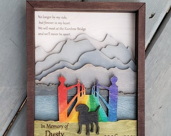 Personal Use rainbow bridge heaven pet memorial cat or dog option christmas papercutting 3d shadowbox SVG PNG DXF digital download template