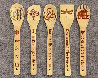Coheed and Cambria Inspired Wood Burned Spoons, One Among The Fence Spoon Set, The Amory Wars Wooden Spoon Set of 5