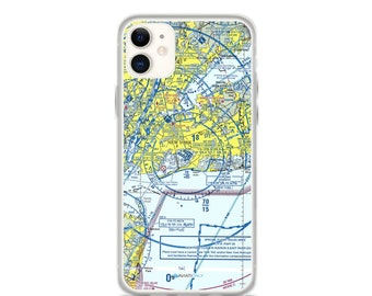 JFK Sectional VFR Chart - Sleek iPhone Flex Case