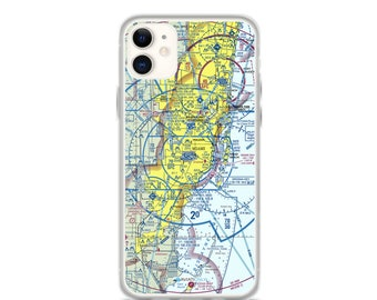 MIA Sectional VFR Chart - Sleek iPhone Flex Case