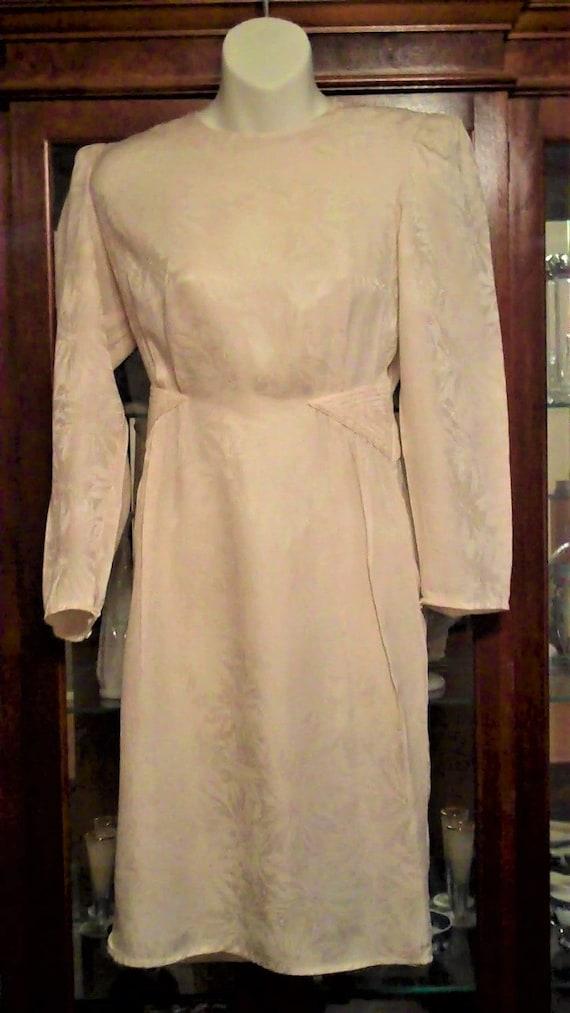 Vintage white silk party dress