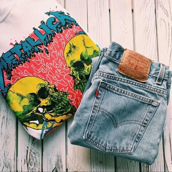 VINTAGE LEVI'S 512 High Waisted Denim Jeans