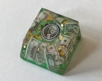 Lucky Money Artisan Keycap, 100% Handmade from Vietnam, for who want to be a billionaire, Dollar Sign for mechanical keyboard.