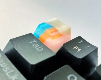 The taste of colors #2 - artisan keycap, New collection of resin keycap, Gradient color, Handmade keycap, Personalized gift, Retro color