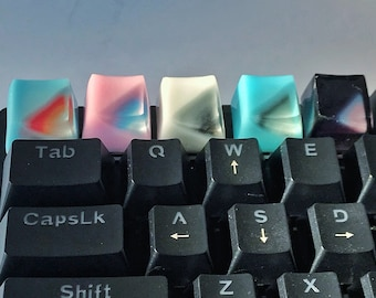 The taste of colors #1 - artisan keycap, New collection of resin keycap, Gradient color, Handmade keycap, Personalized gift, Retro color