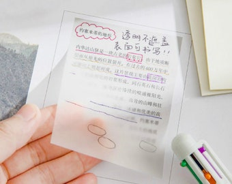 Transparent Sticky Notes, Clear Matte Vellum