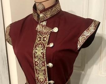Royal mongol style kaftan for women, reenactment, larp, fantasy, archer garbs