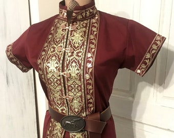 Royal Kaftan for women, reenactment, larp, fantasy, archer garbs