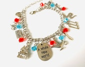 Aladdin Themed Charm Bracelet with gift bag and box