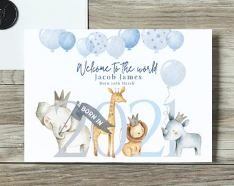 SALE welcome baby card