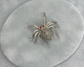 antique spider pin birthday gifts, Christmas gifts for her Victorian spider pin vintage spider brooch art deco glass turqouise pin