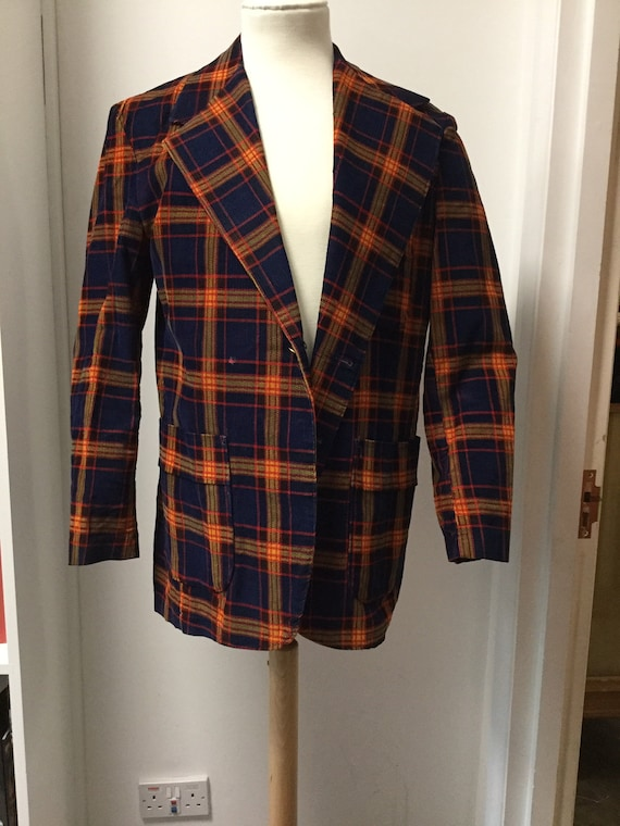"Corduroy Plaid Jacket 42"" Chest"