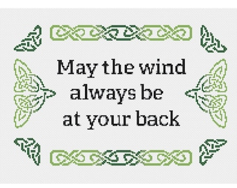 May the Wind - An Irish blessing that leaves me wanting to visit again soon - Cross Stitch PDF pattern