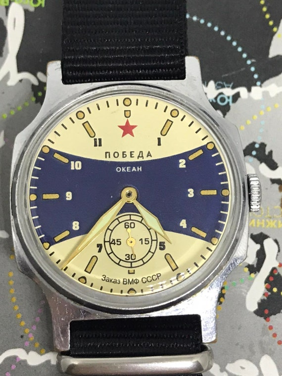 Ocean watch, Pobeda ZIM watch, Vintage Mens Watch,
