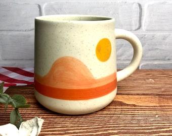 Coffee Mug, Large Stoneware Mug, Tea Mug, Unique Aesthetic Mug, Sass&Bell
