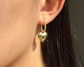 Lock and Key Gold Earring Set, Aesthetic Accessories, Minimalist Jewelry, Matching Earrings
