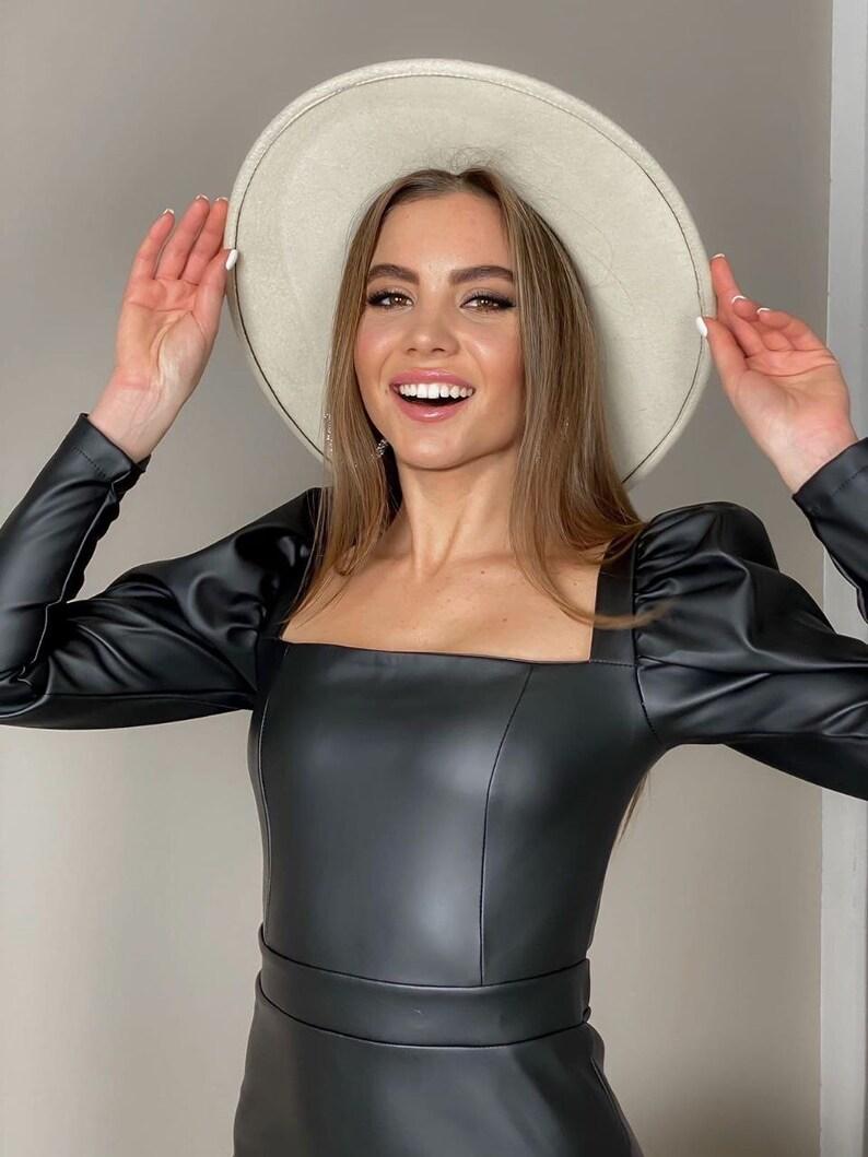 Eco ~ Leather Vegan dress