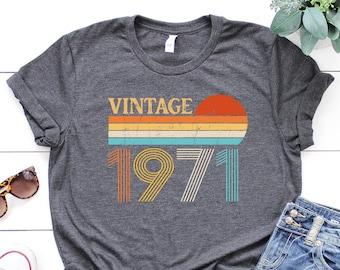 Vintage 1971 Retro Shirt, 50th Birthday, 50th Birthday Gift, 50th Birthday Gift For Women,50th Birthday Gift For Men, Birthday Best Friend