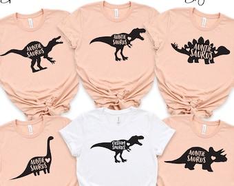 AuntieSaurus Shirt, Auntie Saurus, Aunt Shirt, Auntie Shirt, Aunt Gift, Custom Dinosaur Shirt, Matching Tee, Gift for Auntie, Aunt and Niece